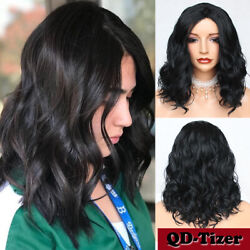 Short Wavy Wigs Black Women None Lace Synthetic Full Wigs Heat Resistant Natural