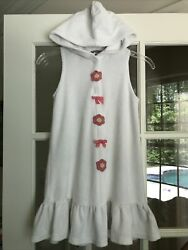Hartstrings Girls Beach Cover Up Or Dress Size 7 8 White Terry EXCELLENT $19.99