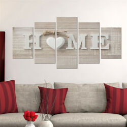 5Pcs Concise Fashion Wall Paintings Home Letter Prints Photo Painting Home Decor $15.99
