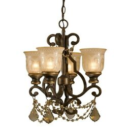 Crystorama Lighting Group 7504 GT MWP Norwalk 4 Light 17quot;W Mini Bronze $346.99