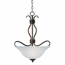 Maxim 10121FT Basix 3 Light 17quot;W Mini Chandelier Bronze $115.60