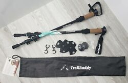 Trail Buddy Trekking Poles Hiking Sticks Teal Blue $27.99