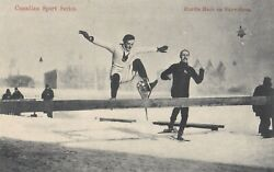 OLD POSTCARD CANADA SPORT RUNNING HURDLES SNOWSHOES AA51 GBP 2.29