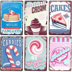 Retro Metal Kitchen Signs Vintage Design Wall Art 8 x 11.8 in 6 Pack $16.99