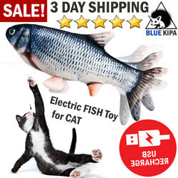 Electric Realistic Fish Toy for Cat Kicker Jumping Flopping Fish Pet Cat Toys US $8.99