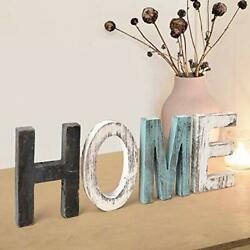 Home Signs Decor Sign Teal Wall Wooden Letters for home sign $12.76