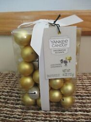 NEW Yankee Candle Decorative Table Scatter Gold Ornaments Silver Jingle Bells $29.99