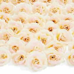 50pc Artificial Fake Champagne Rose Flower Head for Wedding Bouquet Home Decor $15.99
