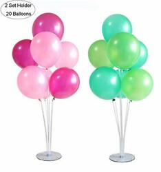 Table Balloon Stand Kit 2 Sets Plus Party Balloons 20pcs 10 inch Reusable C... $23.44