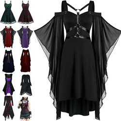 Womens Retro Victorian Gothic Medieval Witch Costume Fancy Dresses Party Cosplay $29.44