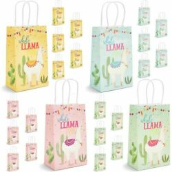 Whole Llama Fun Party Favor Paper Bags with Handles in 4 Colors 24 Pcs $12.99