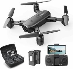 DEERC D30 Foldable Drone with 1080P FPV HD Camera RC Quadcopter Carrying Case $59.99