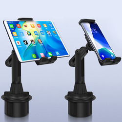 Upgraded Version Universal Adjustable Car Mount Cup Cradle Holder for Cell Phone $11.99