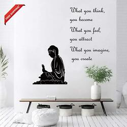Decalmile Zen Wall Decals Quotes What You Think You Become Inspirational Buddha $20.57