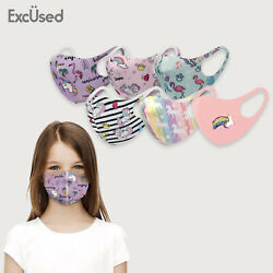 Kids Face Mask Unicorn 6 PK Cover Washable Reusable Protection Breathable $7.99