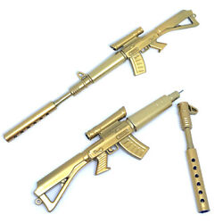 Novelty Gold Rifle Shaped Black Ink Ball point Pen Stationery Office Ball Point $1.34