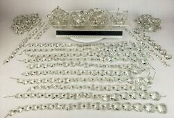 10 lbs Crystal Prisms Chandelier Replacement Crafts Lot Octagon Diamond Vintage $74.95