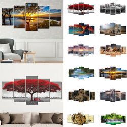 5PCS Modern Art Oil Painting Canvas Picture Home Wall Living Room Decor Unframed $12.99