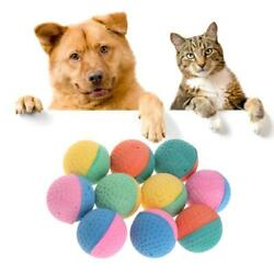 10x Pet Toys Latex Balls Colorful Chew For Dogs Cats Puppy Kitten Soft Elastic $5.69