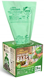 Biodegradable Compost Bags Eco Friendly Trash Bag 2.6 Gal Green Pack Of 2 100PC $35.23