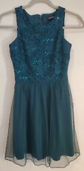 EUC Speechless Size 1 Forest Green Dress Fancy Party Sparkles Tulle Homecoming $6.97