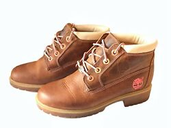 Timberland Classic Womens Boots Size 6 Brown Leather Lace Up Shoes $42.07