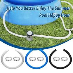 Replacement Hoseamp; Clamps Single Tube1.5m Long For Swimming Pool Pump Filter $9.59