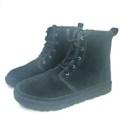 UGG Harley Boots Water Resistant Suede Black Youth Boots Kids Boys Girls Sz 6 $79.90