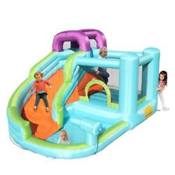 Inflatable Water Slide Bounce House Castle Pony Theme Water Pool With 480 Blower $246.99