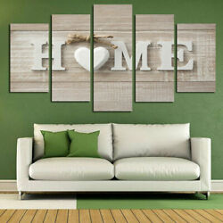 5Pcs Wall Art Painting Unframed Modern Print Canvas Picture Home Room Decor $12.12