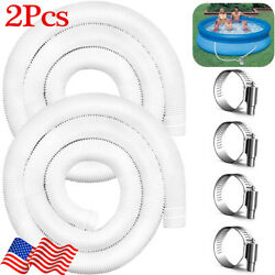 """2Pack Pool Pump Replacement Hose 1.25quot; Diameter 59"""" Long for Above Ground Pools $13.99"""