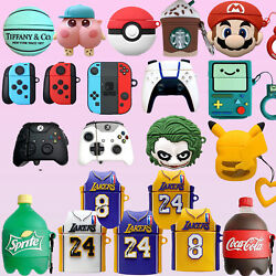 3D Cute Cartoon Airpods Silicone Case for Apple Airpod 1 2 amp; Pro Accessories $7.69