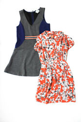 Maeve Anthropologie Womens Knit Floral Dresses Gray Size M 4 Lot 2 $32.99