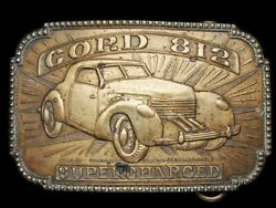 LL03166 VINTAGE ***CORD 812 SUPERCHARGED*** CAR BRASS FANTASY COLLECTOR BUCKLE $30.00