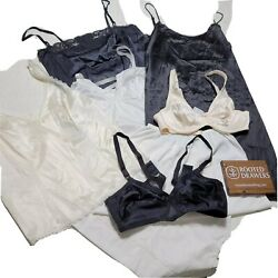 Vintage Lot of Warners Sears Womens Black White Cream Lingerie amp; Bra Size Mixed $44.99