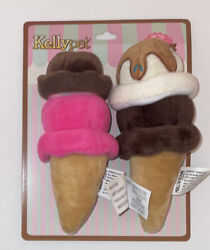 Kellypet Chocolate and Vanilla Ice Cream With Sprinkles Pet Toys NWT 2 Pack $14.99