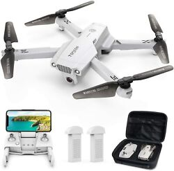 Tomzon D65 Foldable Drone 4K HD Wide Angle Camera GPS 5G Wifi FPV RC Quadcopter $99.99