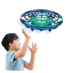 UFO Drones for Kids Adults Hand Free Operated Mini Drone Top Toys Gifts Blue $25.35