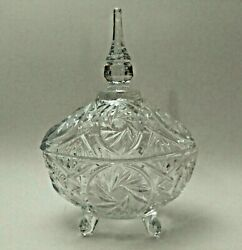 Oval Footed Candy Dish with Lid 24% Full Lead Crystal Vintage Candy Dish $39.99