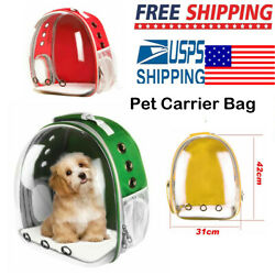 Portable Pet Capsule Travel Crate Bag Cat Dog Transparent Space Backpack NEW USA $32.90
