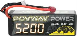 Lipo Battery 5200mAh 11.1V 50C 3S RC Battery with Deans T Plug for RC Cars RC $38.99