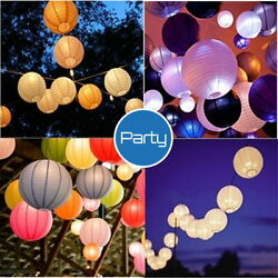 8#x27;#x27; Round Multicolor Chinese paper Lanterns Wedding or Party Hanging Decoration $10.00