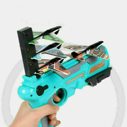 Outdoor Light Plane Catapult Airplane Launcher With 4 Bubble Plane Throw Toy USA $14.24