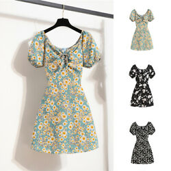 Vintage Womens Summer Floral Mini Dresses Party Cocktail Sweetheart Beach Dress $12.99