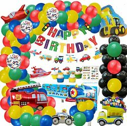 Transportation Birthday Decorations Dump Truck Party for Boys baby Shower $28.99