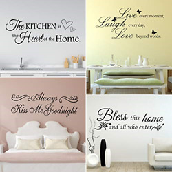 4 Sheets Vinyl Wall Quotes Bless This Home and All Who Enter Vinyl Wall Stickers $15.87