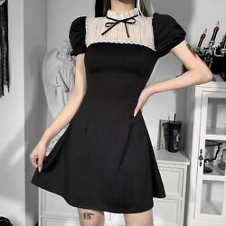 Vintage Women Sexy Lace Dress Clothes Summer Casual Party Slim Short Dresses $21.99