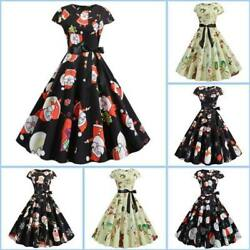 Dresses Dress Winter Sleeveless Womens Christmas Evening Cocktail Floral Party $21.17
