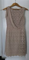 Ann Taylor Lace Dress With Silk Overlay size 2 summer wedding cocktail event $19.95