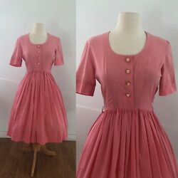 1950s Pink Vintage Dress Size Small $50.00
